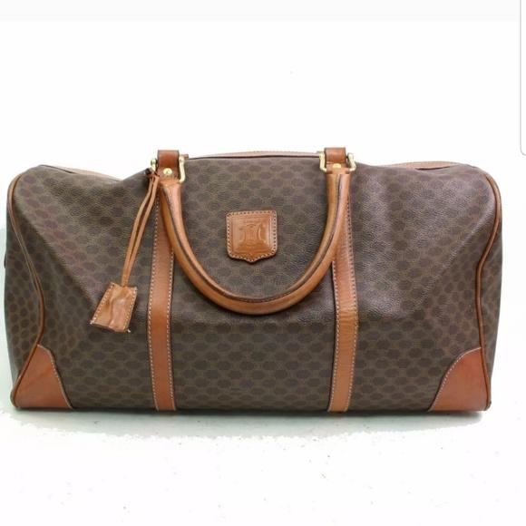 Celine Handbags - CELINE Boston Authentic Macadam travel bag 600491